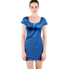 Rendering Streak Wave Background Short Sleeve Bodycon Dress