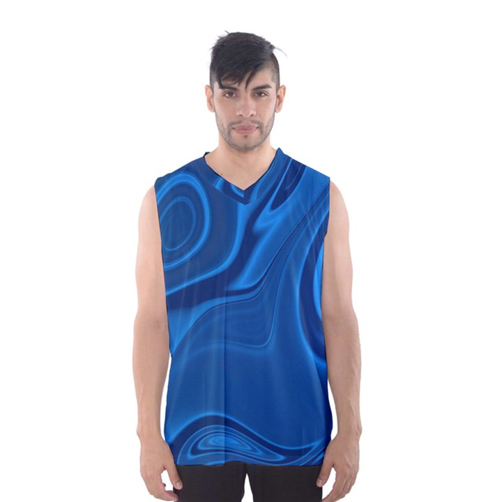 Rendering Streak Wave Background Men s Basketball Tank Top