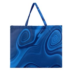 Rendering Streak Wave Background Zipper Large Tote Bag