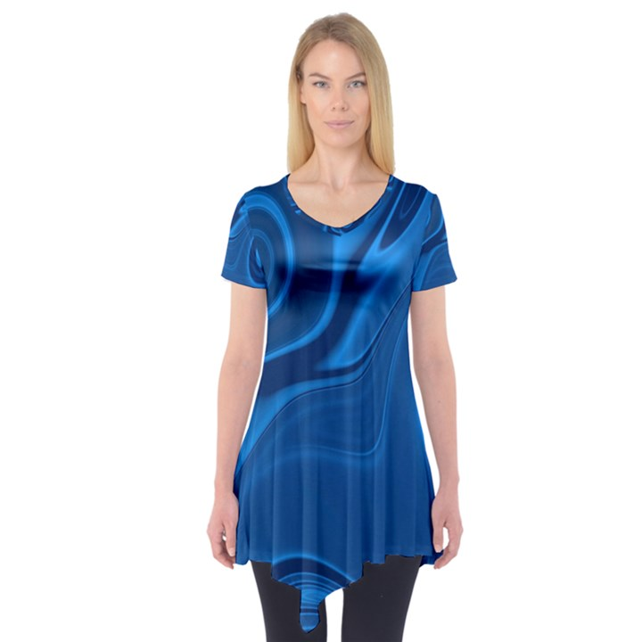 Rendering Streak Wave Background Short Sleeve Tunic