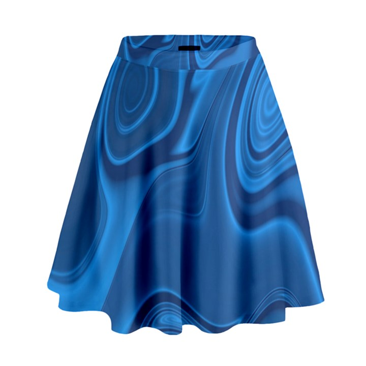 Rendering Streak Wave Background High Waist Skirt