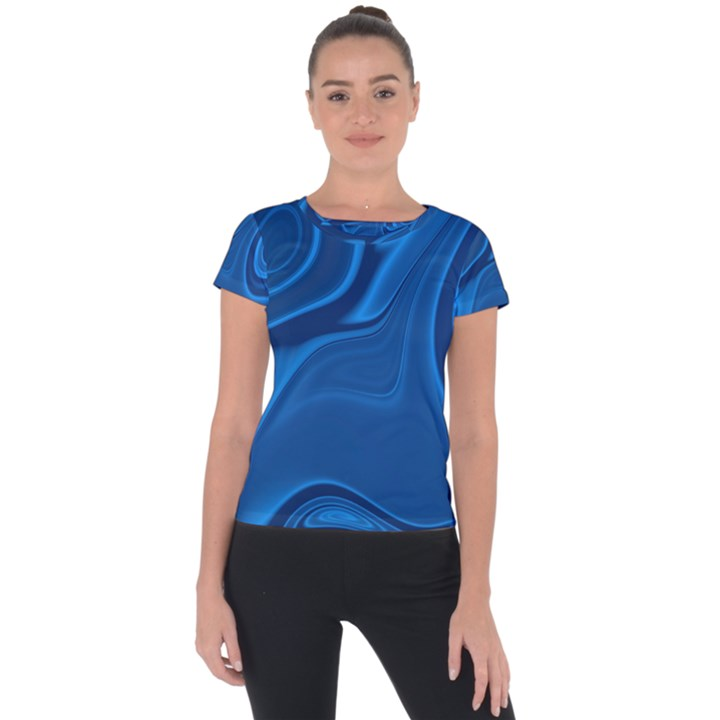 Rendering Streak Wave Background Short Sleeve Sports Top
