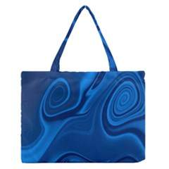 Rendering Streak Wave Background Zipper Medium Tote Bag
