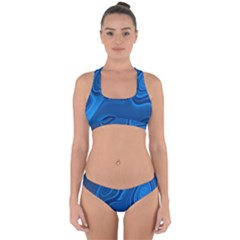 Rendering Streak Wave Background Cross Back Hipster Bikini Set