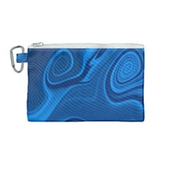 Rendering Streak Wave Background Canvas Cosmetic Bag (medium)