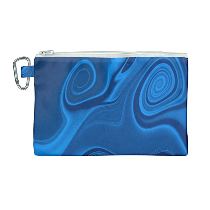Rendering Streak Wave Background Canvas Cosmetic Bag (Large)