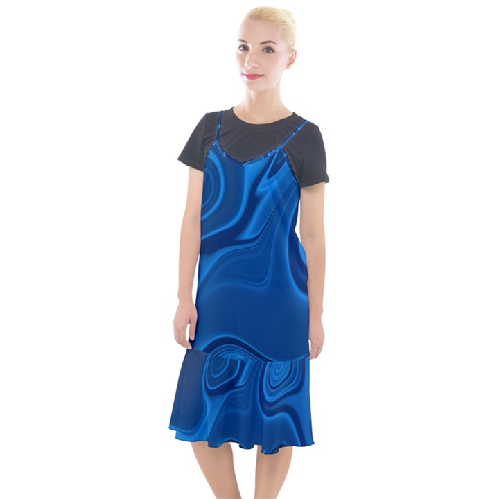 Rendering Streak Wave Background Camis Fishtail Dress