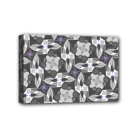 Ornament Pattern Background Mini Canvas 6  X 4  (stretched) by Pakrebo