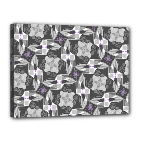 Ornament Pattern Background Canvas 16  X 12  (stretched)