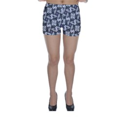 Ornament Pattern Background Skinny Shorts