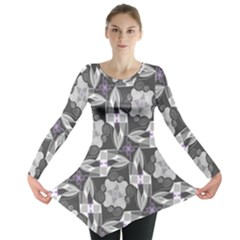 Ornament Pattern Background Long Sleeve Tunic