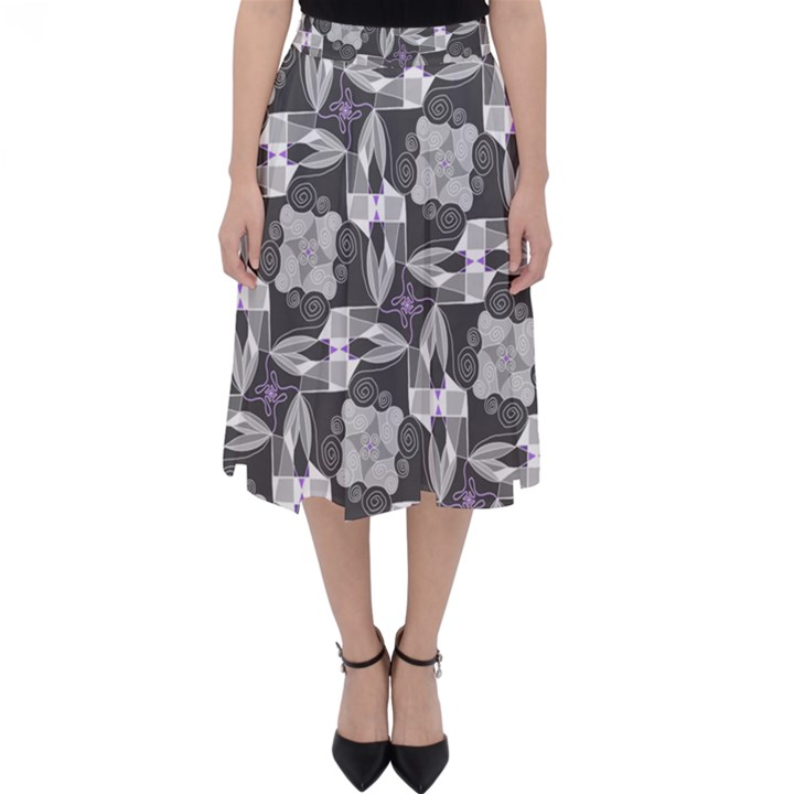 Ornament Pattern Background Classic Midi Skirt