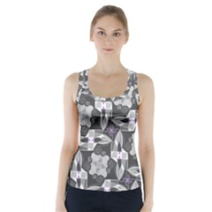 Ornament Pattern Background Racer Back Sports Top