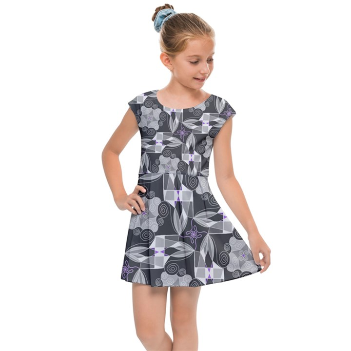 Ornament Pattern Background Kids  Cap Sleeve Dress