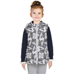 Ornament Pattern Background Kids  Hooded Puffer Vest