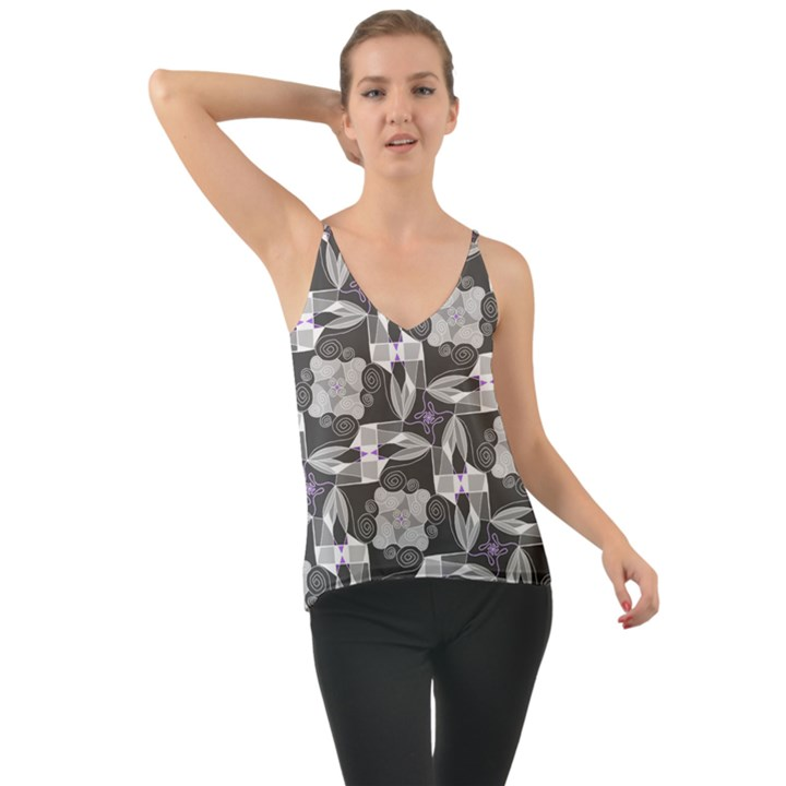 Ornament Pattern Background Chiffon Cami