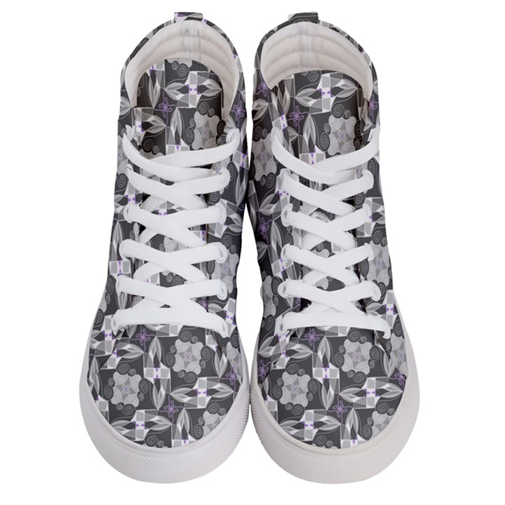 Ornament Pattern Background Women s Hi-Top Skate Sneakers