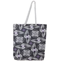 Ornament Pattern Background Full Print Rope Handle Tote (large)