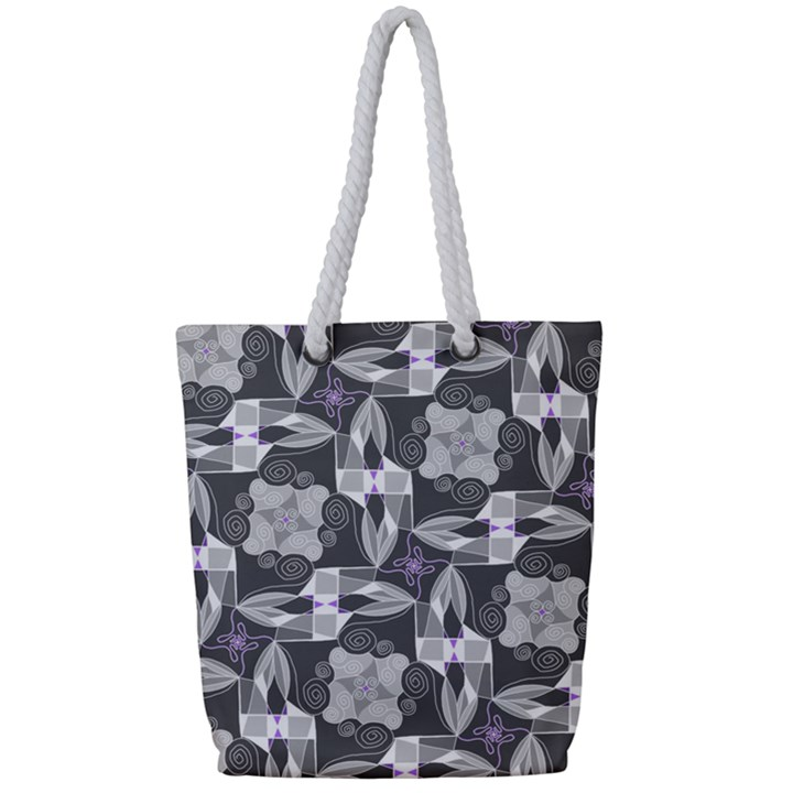 Ornament Pattern Background Full Print Rope Handle Tote (Small)