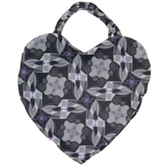 Ornament Pattern Background Giant Heart Shaped Tote