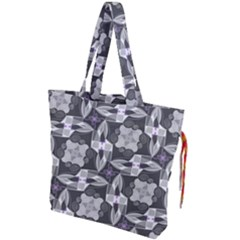 Ornament Pattern Background Drawstring Tote Bag