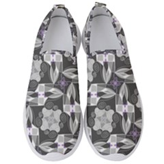 Ornament Pattern Background Men s Slip On Sneakers