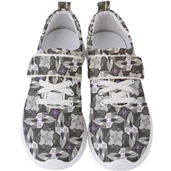 Ornament Pattern Background Men s Velcro Strap Shoes