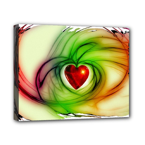 Heart Love Luck Abstract Canvas 10  X 8  (stretched)