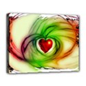 Heart Love Luck Abstract Canvas 14  x 11  (Stretched) View1
