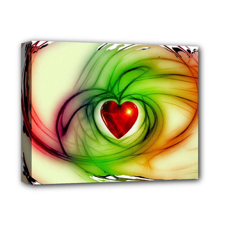 Heart Love Luck Abstract Deluxe Canvas 14  x 11  (Stretched)