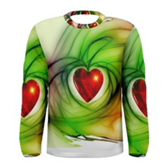 Heart Love Luck Abstract Men s Long Sleeve Tee