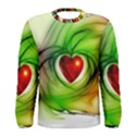 Heart Love Luck Abstract Men s Long Sleeve Tee View1