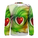 Heart Love Luck Abstract Men s Long Sleeve Tee View2