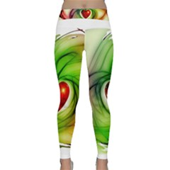 Heart Love Luck Abstract Classic Yoga Leggings