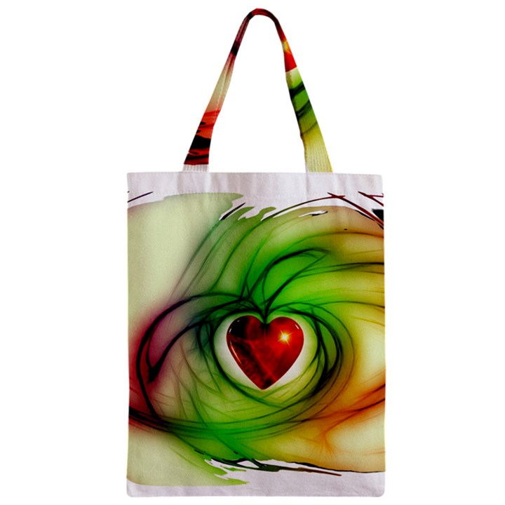 Heart Love Luck Abstract Zipper Classic Tote Bag