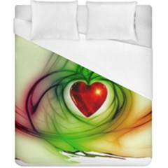 Heart Love Luck Abstract Duvet Cover (california King Size)