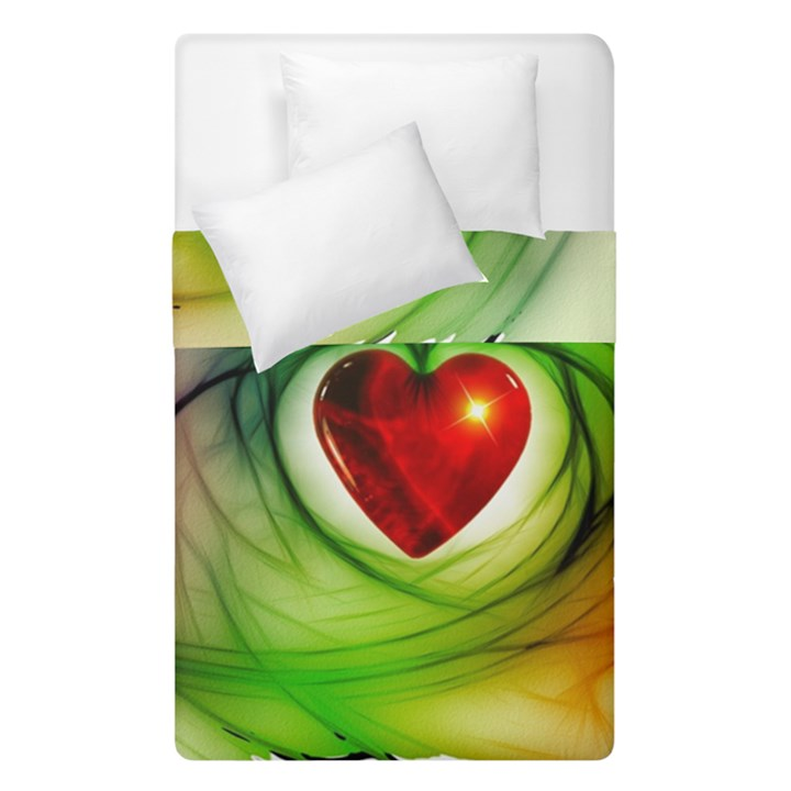 Heart Love Luck Abstract Duvet Cover Double Side (Single Size)