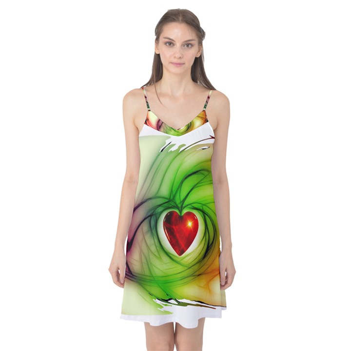 Heart Love Luck Abstract Camis Nightgown