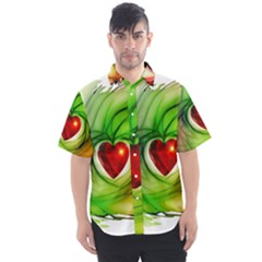 Heart Love Luck Abstract Men s Short Sleeve Shirt
