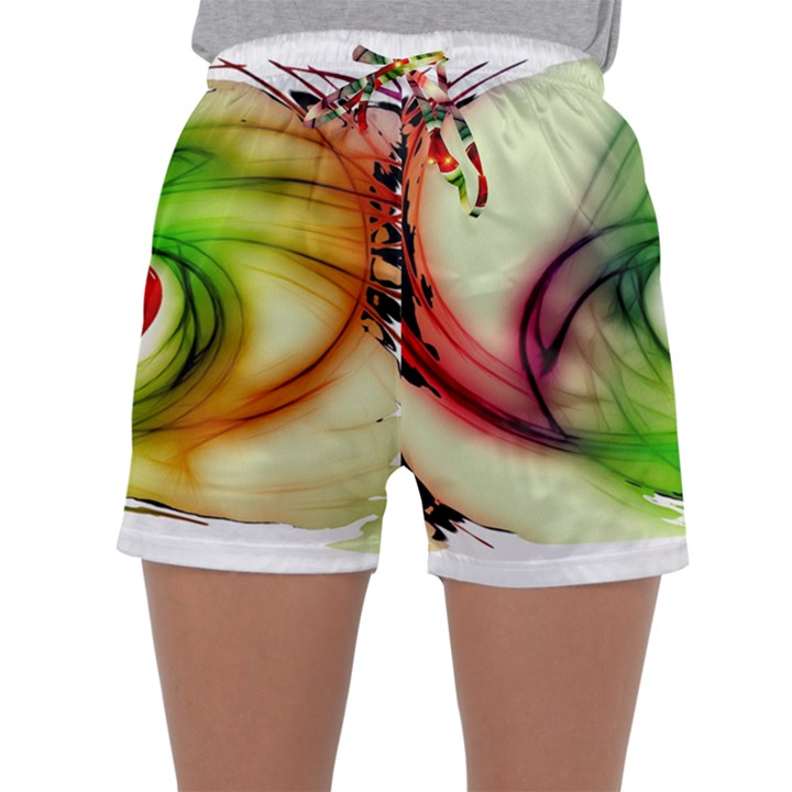 Heart Love Luck Abstract Sleepwear Shorts
