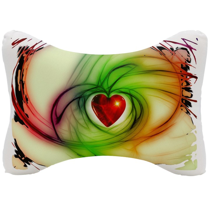 Heart Love Luck Abstract Seat Head Rest Cushion
