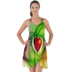 Heart Love Luck Abstract Show Some Back Chiffon Dress by Pakrebo