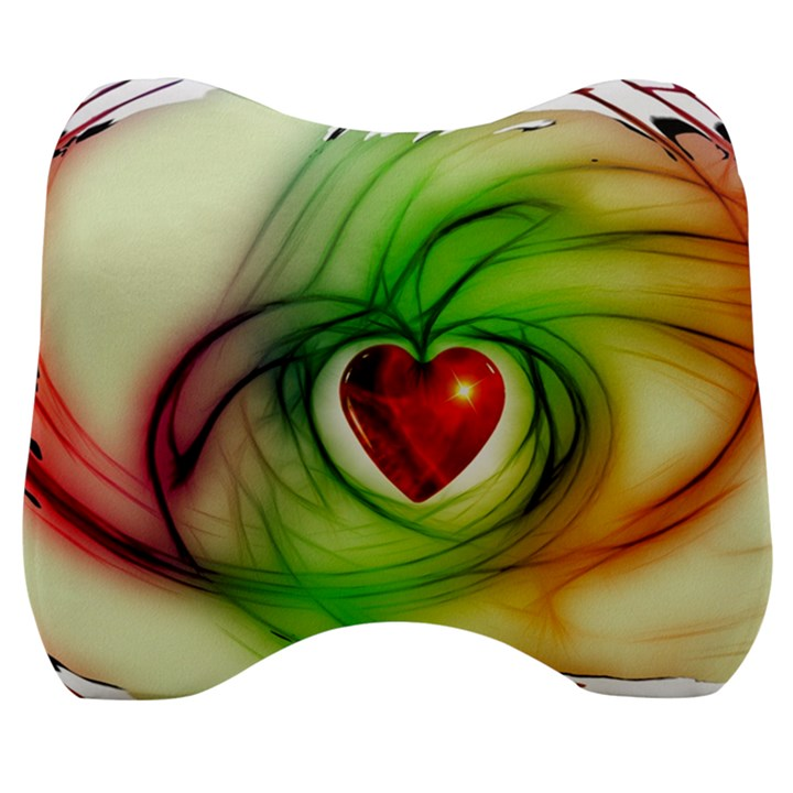Heart Love Luck Abstract Velour Head Support Cushion