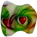 Heart Love Luck Abstract Velour Head Support Cushion View3
