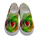 Heart Love Luck Abstract Women s Canvas Slip Ons View1