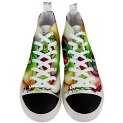 Heart Love Luck Abstract Men s Mid Top Canvas Sneakers