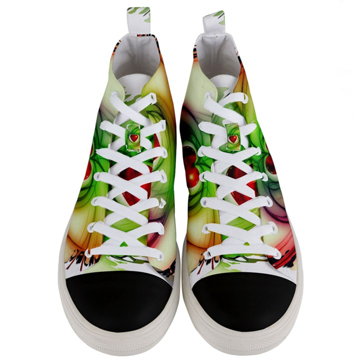 Heart Love Luck Abstract Men s Mid-Top Canvas Sneakers