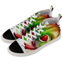 Heart Love Luck Abstract Men s Mid-Top Canvas Sneakers View2