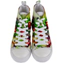 Heart Love Luck Abstract Women s Mid-Top Canvas Sneakers View1