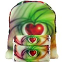 Heart Love Luck Abstract Giant Full Print Backpack View1